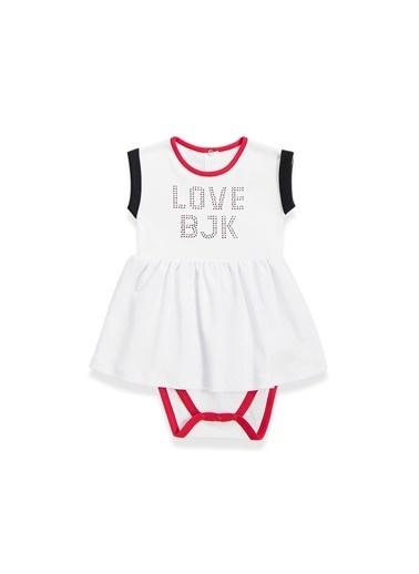 Beşiktaş Beşiktaş Lisanslı Kız Bebek Body Kırmızı Beyaz